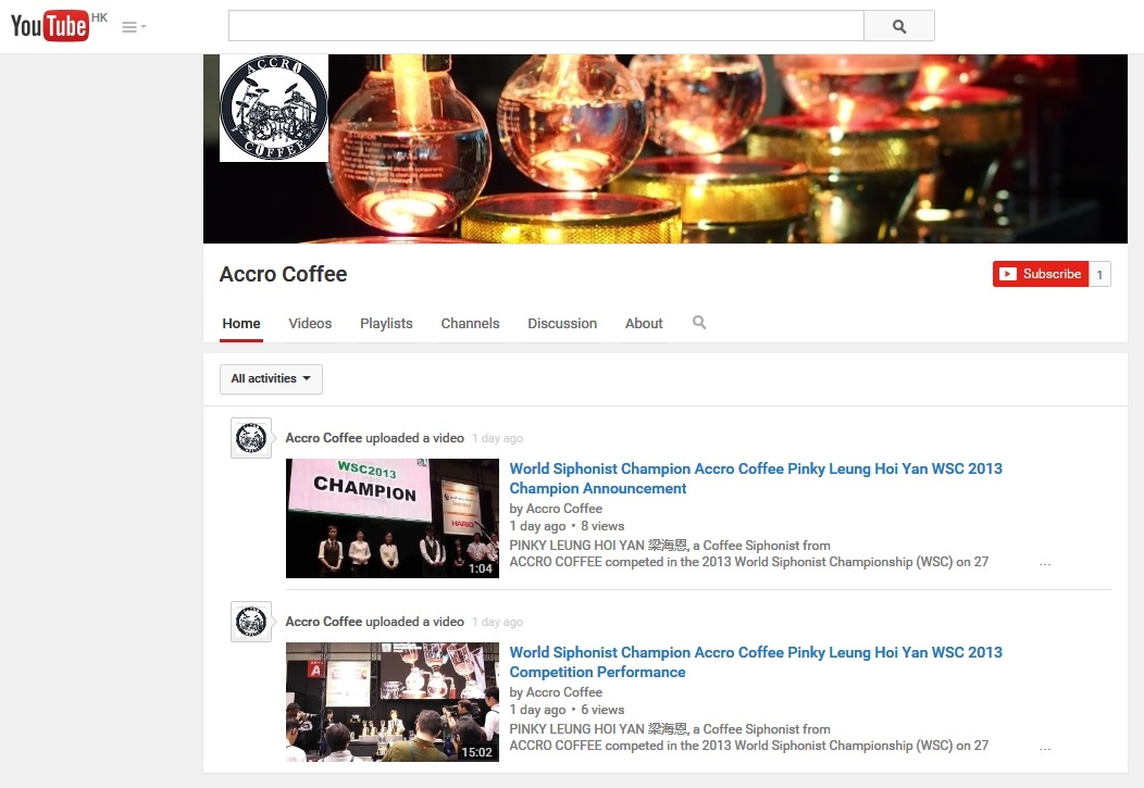 accro coffee youtube channel